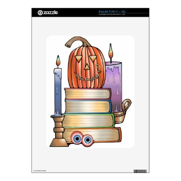 Halloween Themed Masquerade Library Books iPad Decals