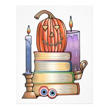 Halloween Themed Masquerade Library Books Letterhead