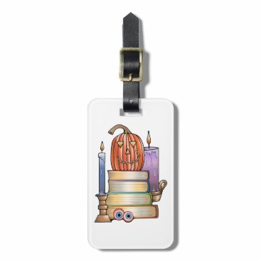 Halloween Themed Masquerade Library Books Luggage Tag