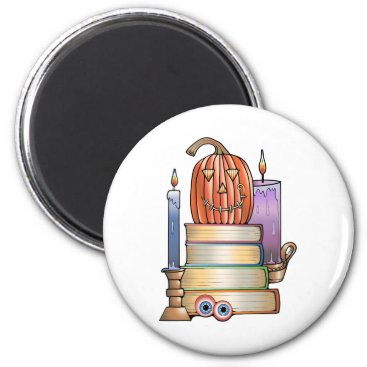 Halloween Themed Masquerade Library Books Magnet