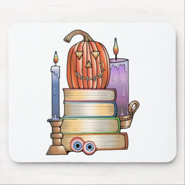 Halloween Themed Masquerade Library Books Mouse Pad