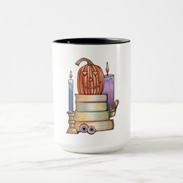 Halloween Themed Masquerade Library Books Mug