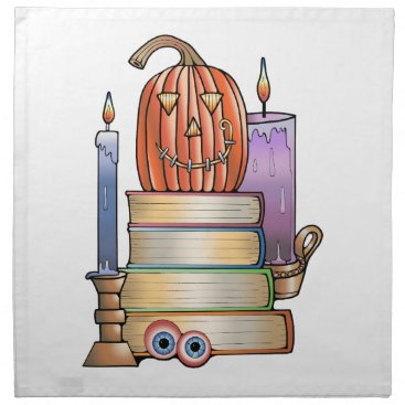 Halloween Themed Masquerade Library Books Napkin