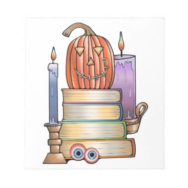 Halloween Themed Masquerade Library Books Notepad