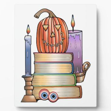 Halloween Themed Masquerade Library Books Plaque