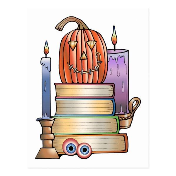 Masquerade Library Books Postcard