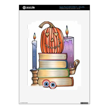 Halloween Themed Masquerade Library Books Skins For iPad 3