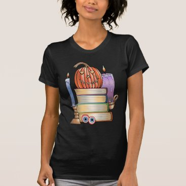 Halloween Themed Masquerade Library Books T-Shirt