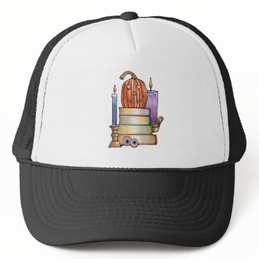 Halloween Themed Masquerade Library Books Trucker Hat