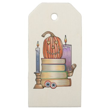 Masquerade Library Books Wooden Gift Tags