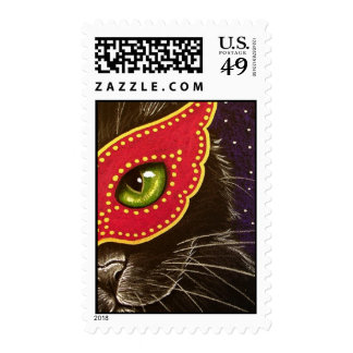 Masquerade - Magenta Postage Stamp