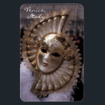"""Masquerade Magnet<br><div class=""""desc"""">Carnival costume from the Carnival of Venice,  Italy. Il Carnevale di Venezia,  one of the most famous carnivals in the world,  renowned for its&#39; beautiful masks,  begins about two weeks before Ash Wednesday and ends on Shrove Tuesday (Mardi Gras) right before Lent.</div>"""