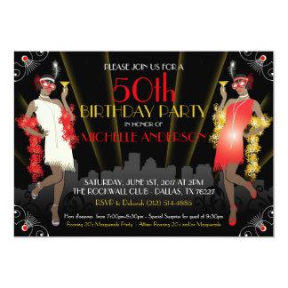 Masquerade Mardi Gras Birthday Inivtation Card