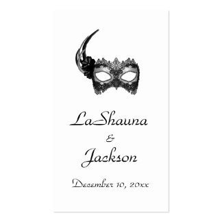 """""""Masquerade Mask"""" - Black w/ Lace Business Card"""