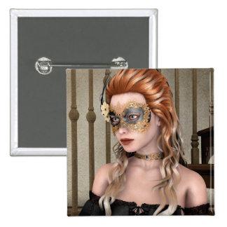 Masquerade Mask Pinback Buttons