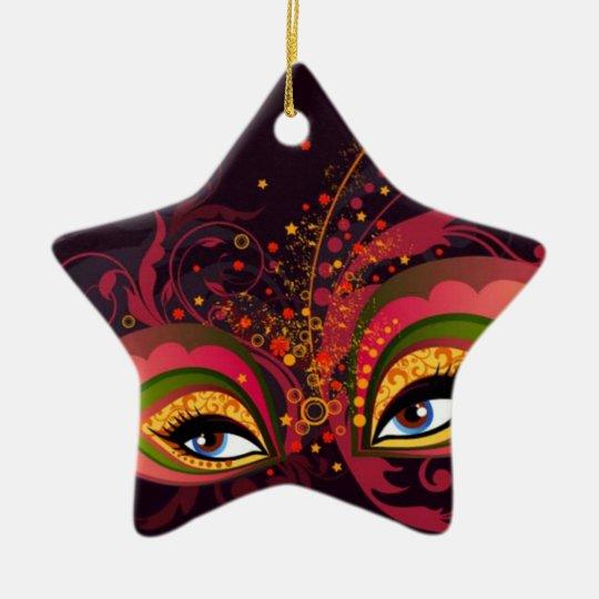 Masquerade Mask Ceramic Ornament
