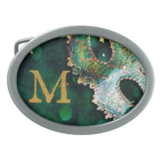 Masquerade Mask Costume Hallo Monogram Belt Buckle