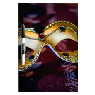 Masquerade Mask Gold Party Halloween Glamour Dry-Erase Board