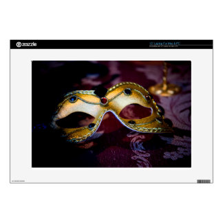 Masquerade Mask Gold Party Halloween Glamour Laptop Decals