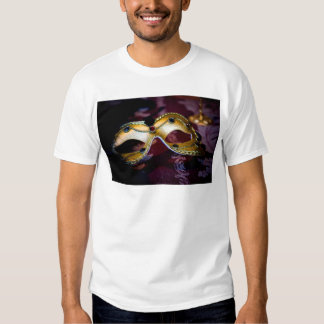 Masquerade Mask Gold Party Halloween Glamour T Shirt