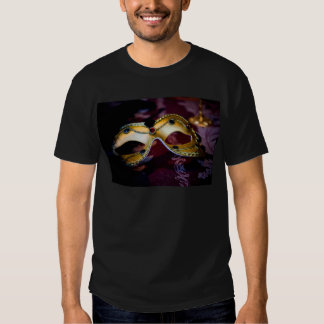 Masquerade Mask Gold Party Halloween Glamour Tee Shirt