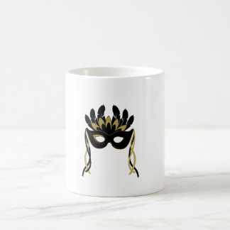 Masquerade Mask in Black and Gold Mug