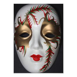 Masquerade  Mask Invitation