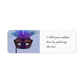 Masquerade Mask Label