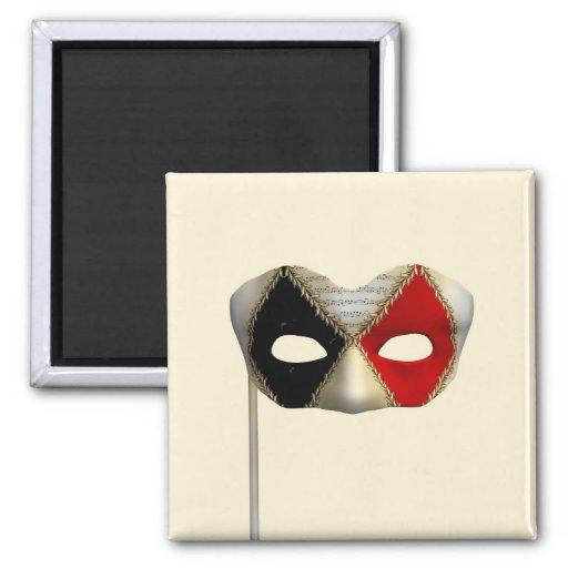 Masquerade Mask Fridge Magnets