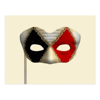 Masquerade Mask Postcard