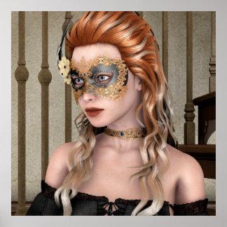 Masquerade Mask Poster