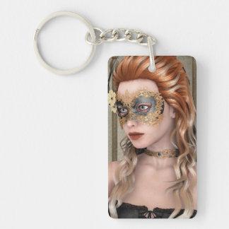 Masquerade Mask Single-Sided Rectangular Acrylic Keychain