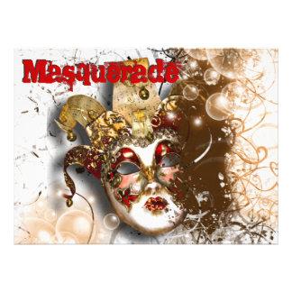 Masquerade mask venetian mardi gras party announcement