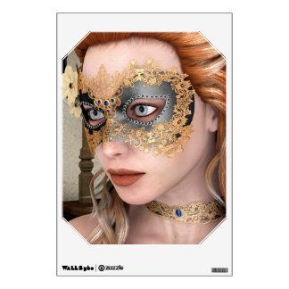 Masquerade Mask Wall Decal