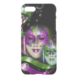Masquerade masks girls pink green iPhone 8/7 case