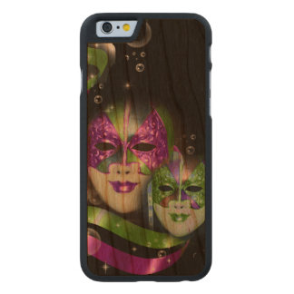 Masquerade masks girls pink green PERSONALIZE Carved Cherry iPhone 6 Slim Case