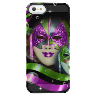 Masquerade masks girls pink green PERSONALIZE Clear iPhone SE/5/5s Case