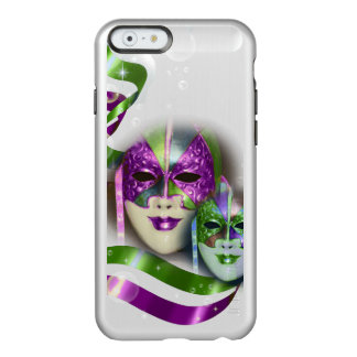 Masquerade masks girls pink green PERSONALIZE Incipio Feather Shine iPhone 6 Case