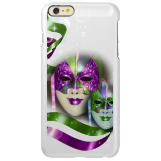 Masquerade masks girls pink green PERSONALIZE Incipio Feather Shine iPhone 6 Plus Case