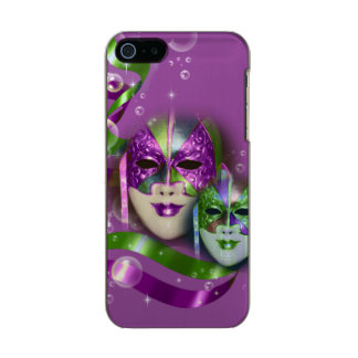 Masquerade masks girls pink green PERSONALIZE Metallic Phone Case For iPhone SE/5/5s