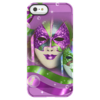 Masquerade masks girls pink green PERSONALIZE Permafrost iPhone SE/5/5s Case