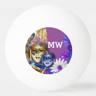Masquerade monogram girls name PERSONALIZE Ping-Pong Ball