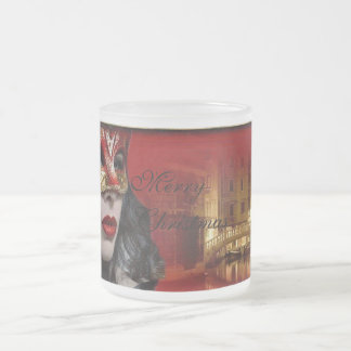 Masquerade 10 Oz Frosted Glass Coffee Mug