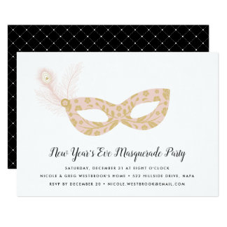 Masquerade New Year's Eve Party Invitation