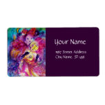 MASQUERADE NIGHT Carnival Musician in Pink Costume Shipping Label