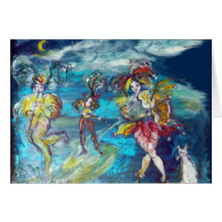 MASQUERADE NIGHT DANCING AND MUSIC Valentine's Day Greeting Card