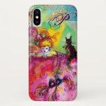 MASQUERADE NIGHT / LADY WITH BLACK CAT MONOGRAM iPhone X CASE