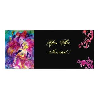 MASQUERADE NIGHT PARTY 4X9.25 PAPER INVITATION CARD