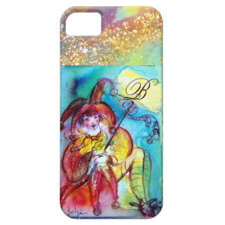 MASQUERADE NIGHT / RED YELLOW JESTER MONOGRAM iPhone SE/5/5s CASE