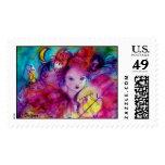 MASQUERADE NIGHT / Venetian Carnival Birthday Postage Stamp